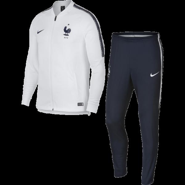 Survêtement équipe de France blanc
